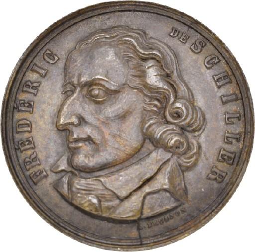 Medaille Auf Den 100 Geburtstag Von Friedrich Schiller